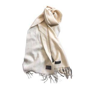 Coach cream cashmere wool blend scarf